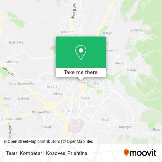 Teatri Kombëtar I Kosovës map