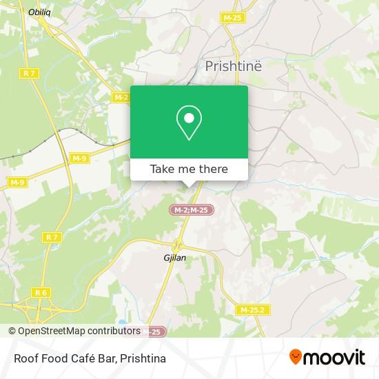 Roof Food Café Bar map