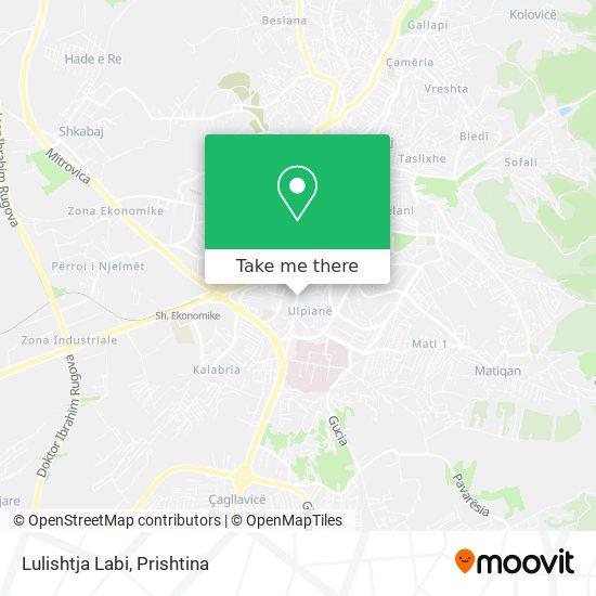 Lulishtja Labi map