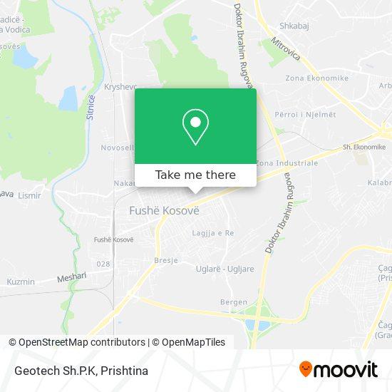 Geotech Sh.P.K map