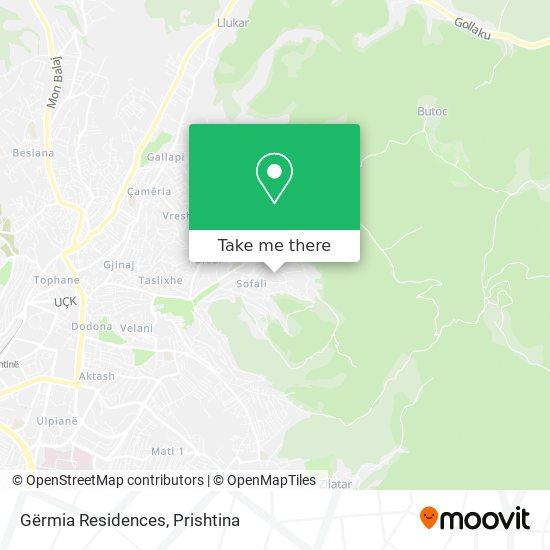 Gërmia Residences map