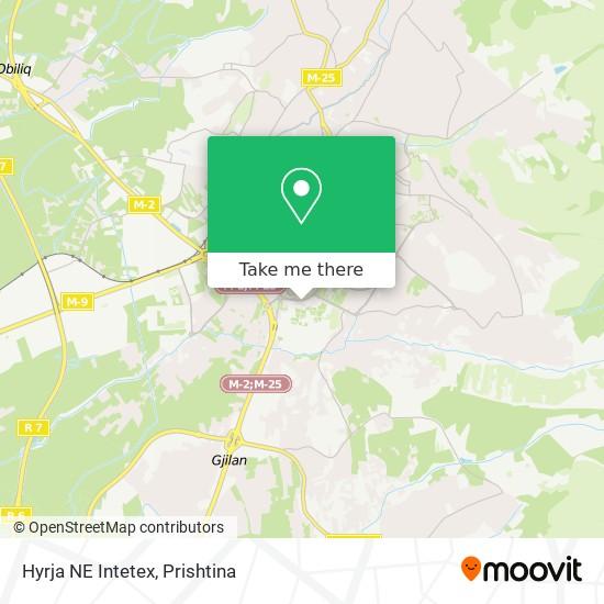 Hyrja NE Intetex map