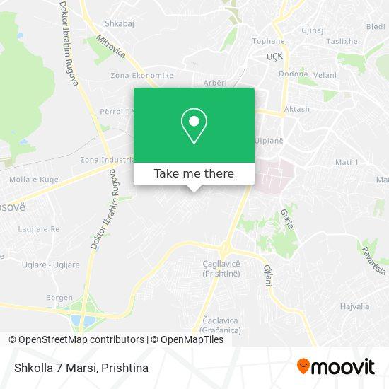 Shkolla 7 Marsi map