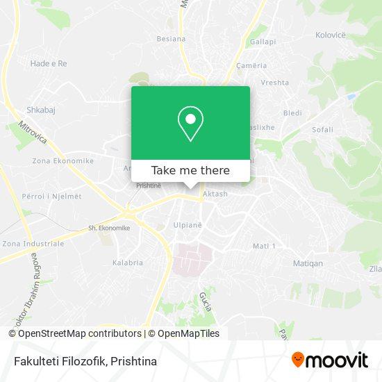 Universiteti I Prishtinës - Fakulteti Filozofik map