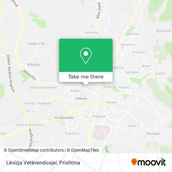 Lëvizja Vetëvendosje! map