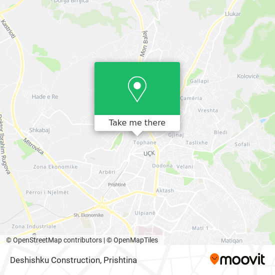 Deshishku Construction map
