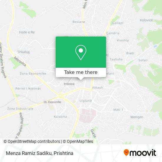 Menza Ramiz Sadiku map