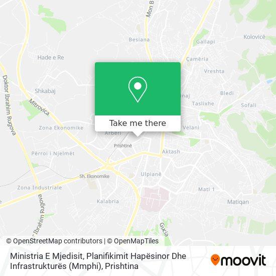 Ministria E Infrastrukturës Dhe Transportit map