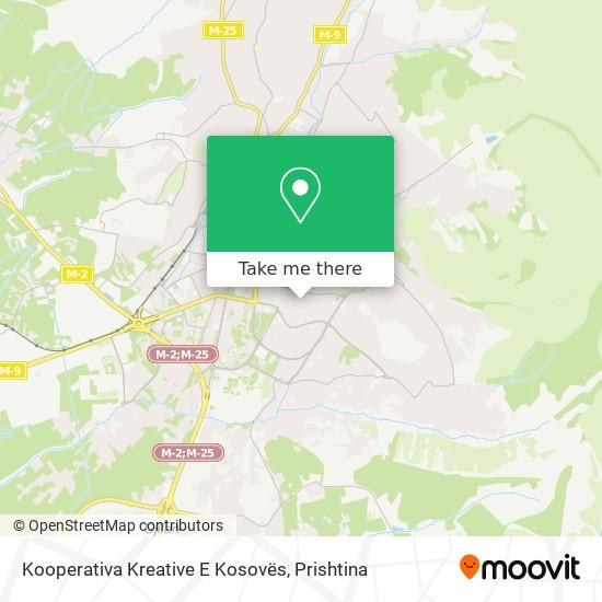 Kooperativa Kreative E Kosovës map