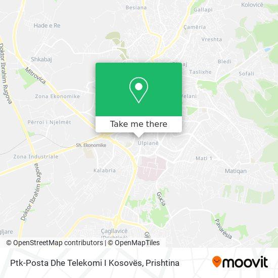 Ptk-Posta Dhe Telekomi I Kosovës map