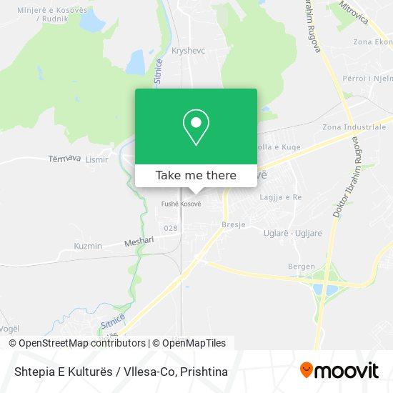 Shtepia E Kulturës / Vllesa-Co map