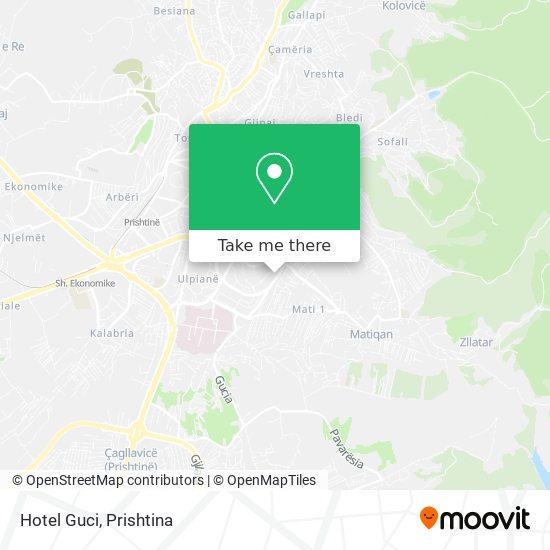 Hotel Guci map