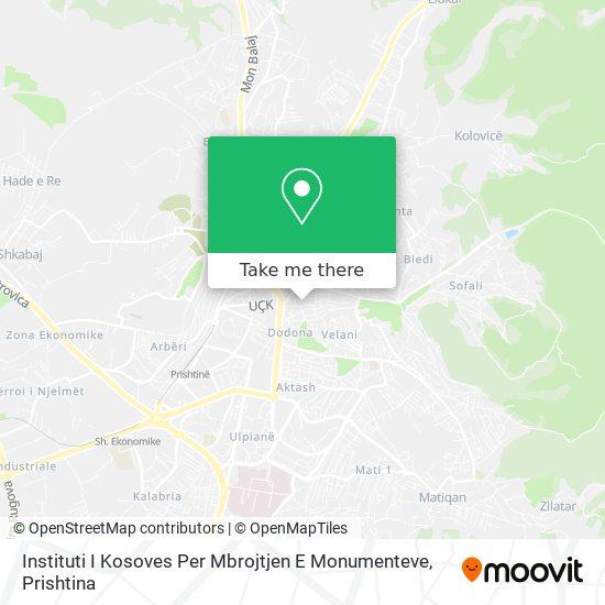 Instituti I Kosoves Per Mbrojtjen E Monumenteve map