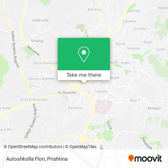 Autoshkolla Flori map