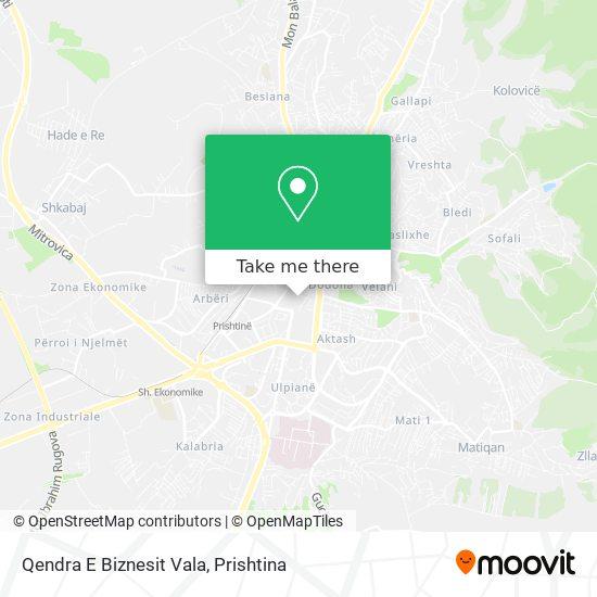 Qendra E Biznesit Vala map