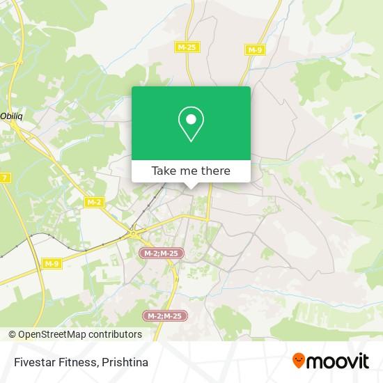 Fivestar Fitness map
