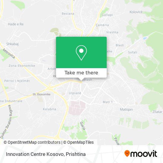Innovation Centre Kosovo map