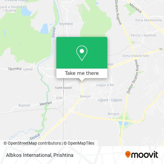 Albkos International map
