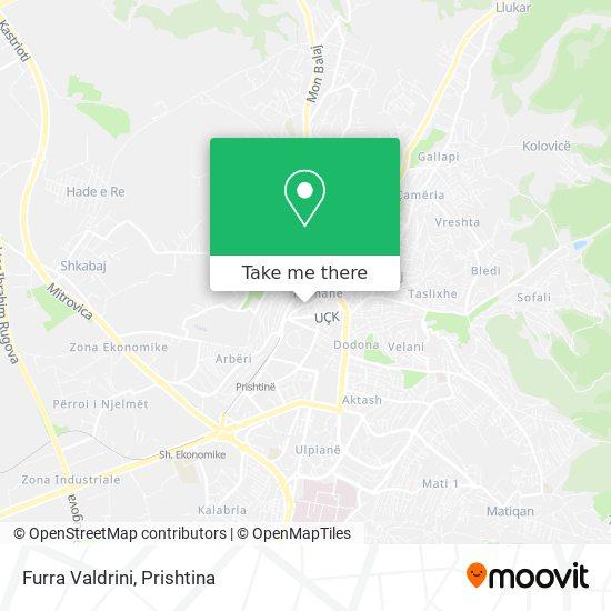 Furra Valdrini map