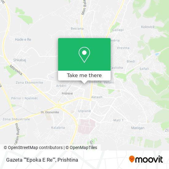 """Gazeta """"""""Epoka E Re"""""""" map"""