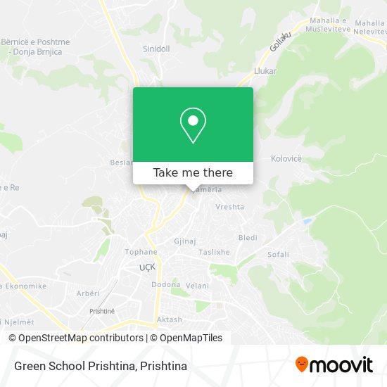 Green School Prishtina map