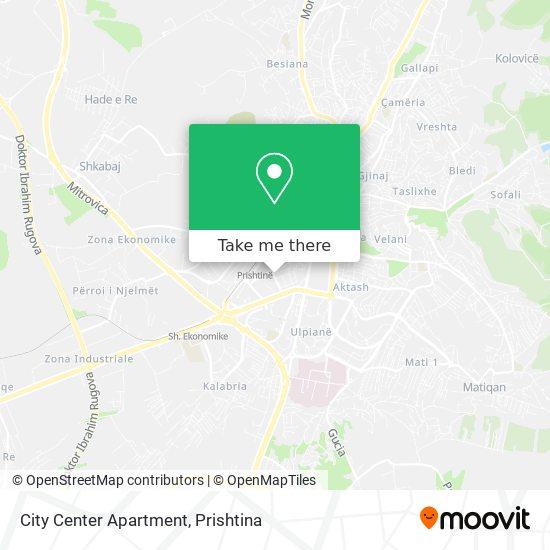 City Center Apartment map