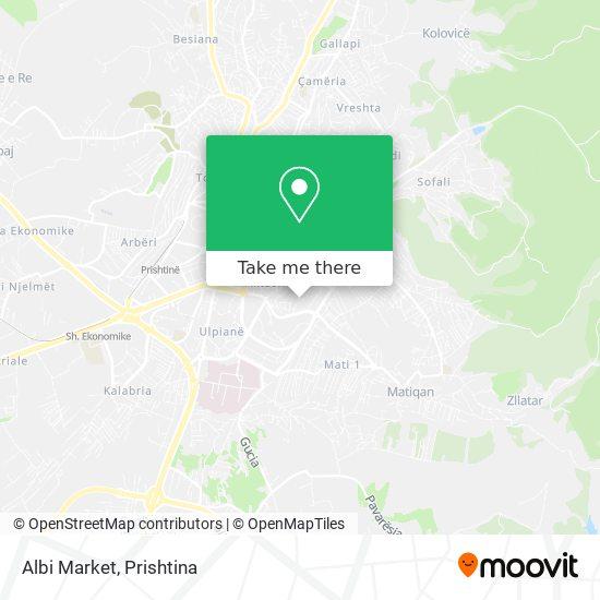 Albi Market map