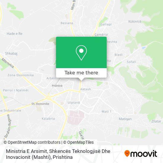 Ministria E Arsimit, Shkencës Dhe Teknologjisë map