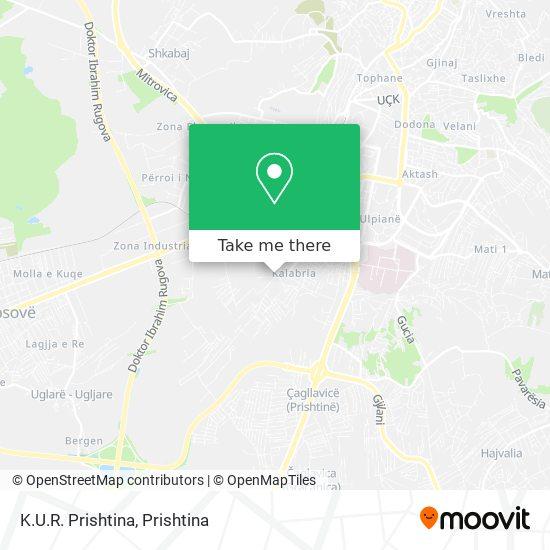 K.U.R. Prishtina map