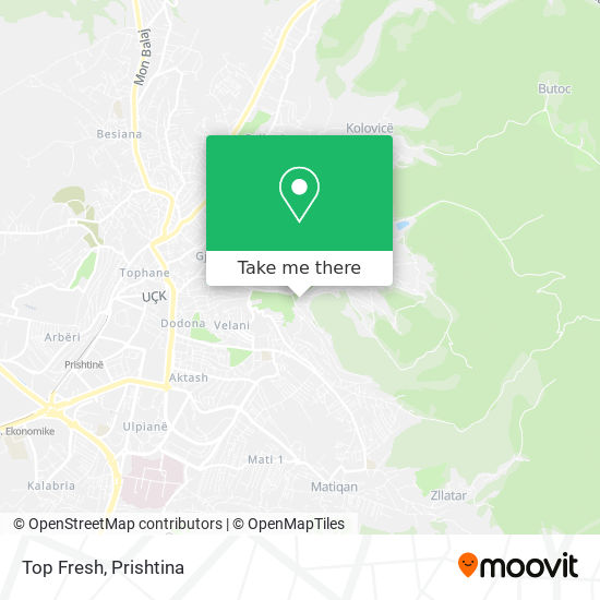 Top Fresh map