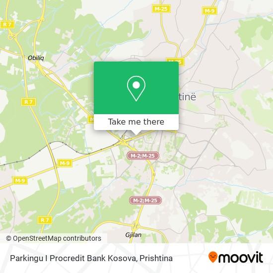 Parkingu I Procredit Bank Kosova map