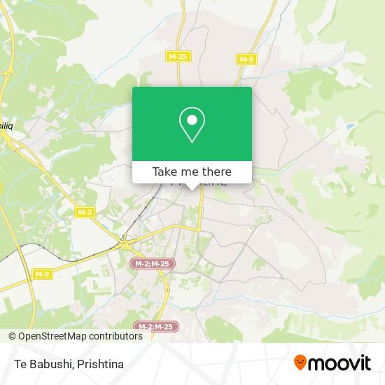 Te Babushi map
