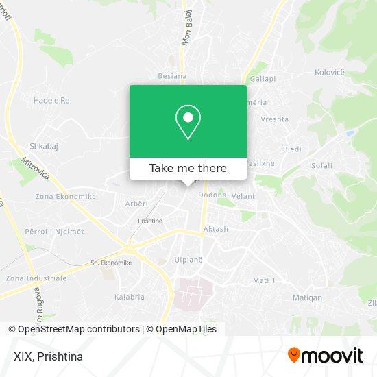 XIX map