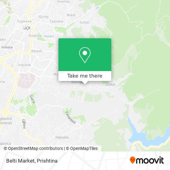 Belti Market map