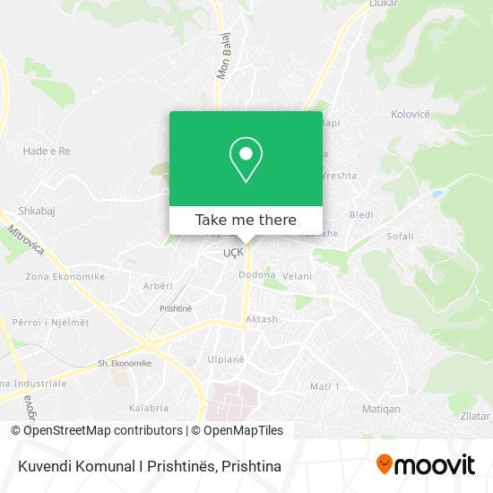 Kuvendi Komunal I Prishtinës map