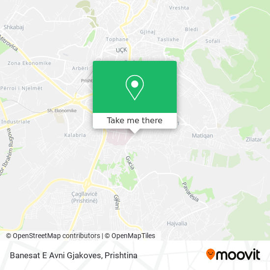 Banesat E Avni Gjakoves map