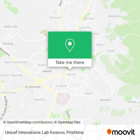 Unicef Innovations Lab Kosovo map