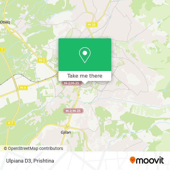 Ulpiana D3 map