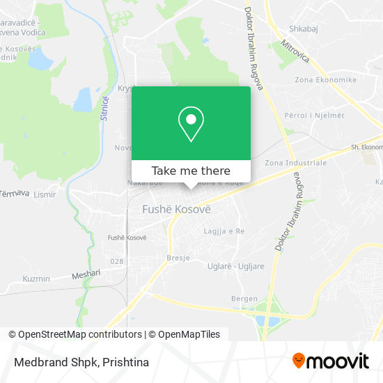 Medbrand Shpk map