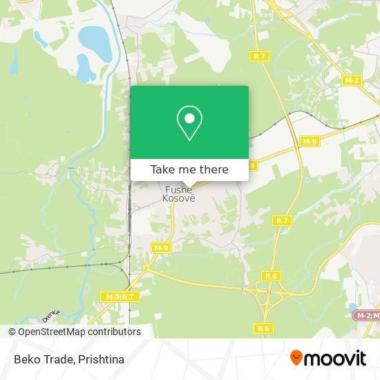 Beko Trade map