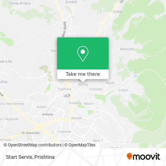 Start Servis map