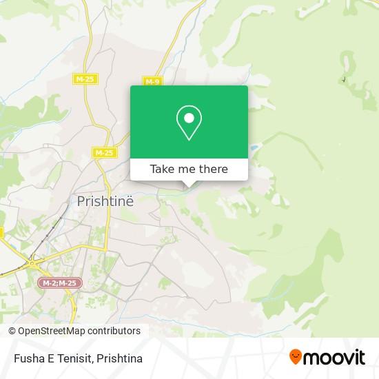 Fusha E Tenisit map