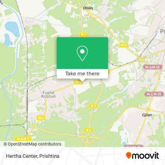 Hertha Center map