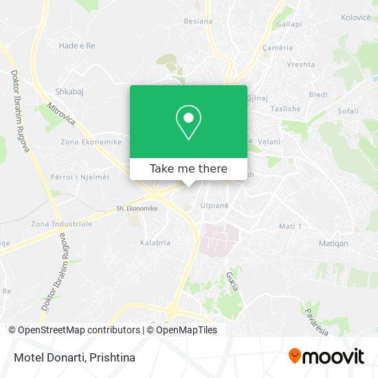 Motel Donarti map