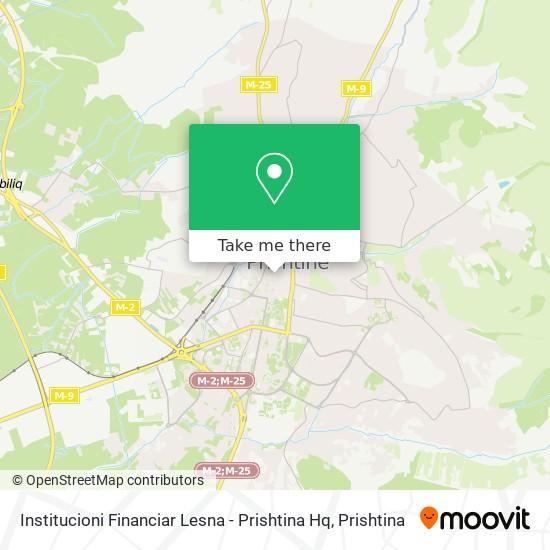 Institucioni Financiar Lesna - Prishtina Hq map