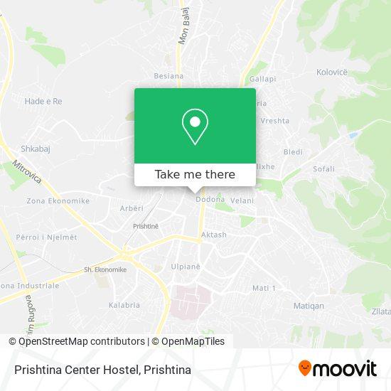 Prishtina Center Hostel map