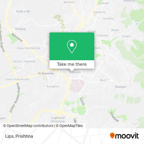 Lips map