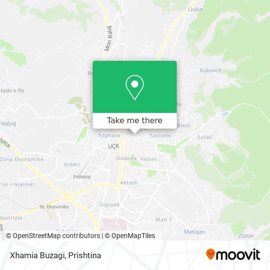 Xhamia Buzagi map