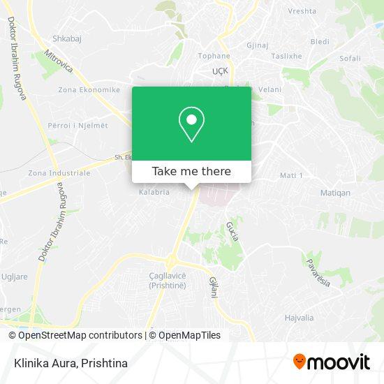 Klinika Aura map