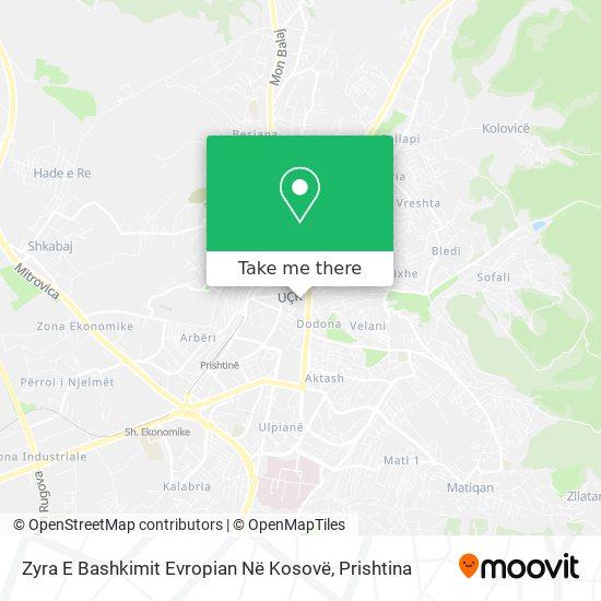 Eu Office In Kosovo map